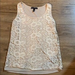 French Laundry cream lace tank - size M